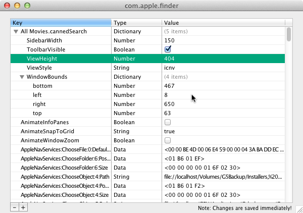 Property List Editor Mac