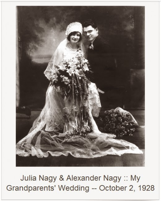 julia kovach and alexander nagy wedding october 1928