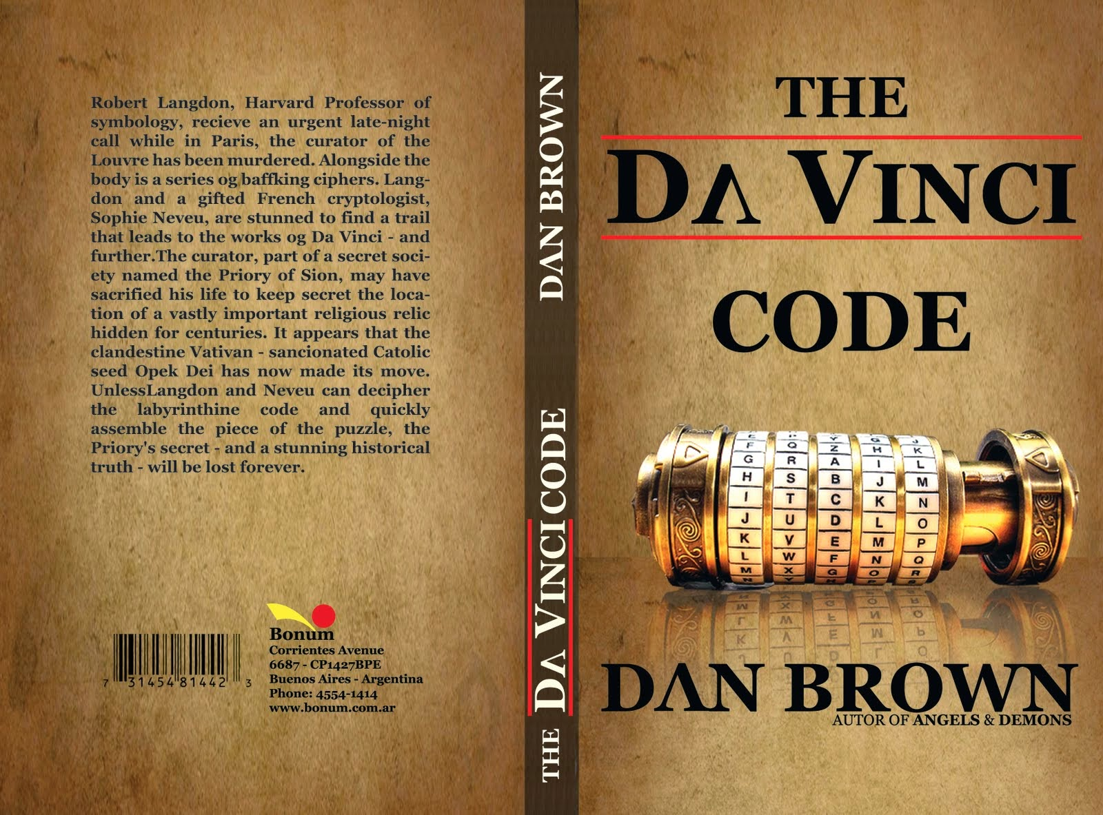 summary of the da vinci code The da vinci code is a 2003 mystery thriller novel by dan brown it follows  symbologist robert langdon and cryptologist sophie neveu after a murder in  the.