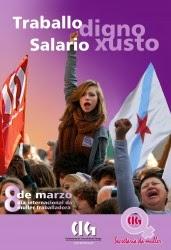 Cartaz da campaña da CIG «Salario xusto. Traballo digno»