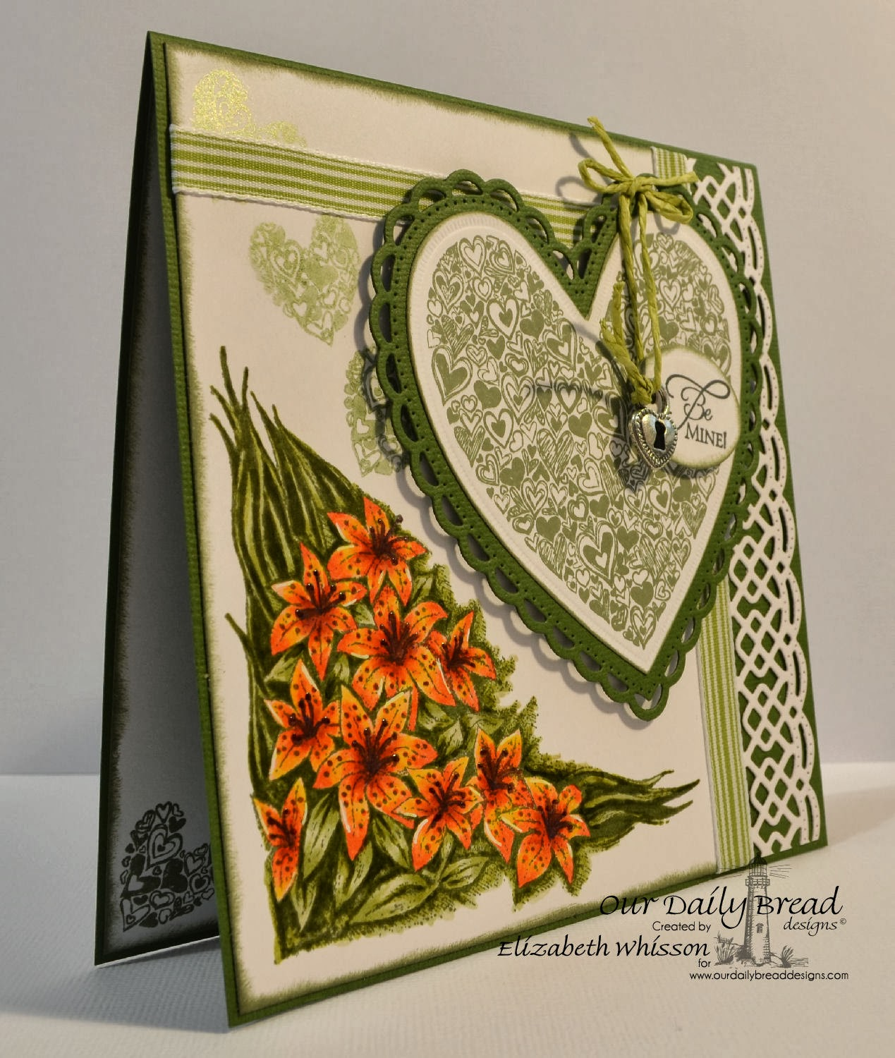 Elizabeth Whisson, Our Daily Bread Designs, Heart of Joy, Tiger Lily, Be Mine, ODBD Ornate Hearts, ODBD Beautiful Borders