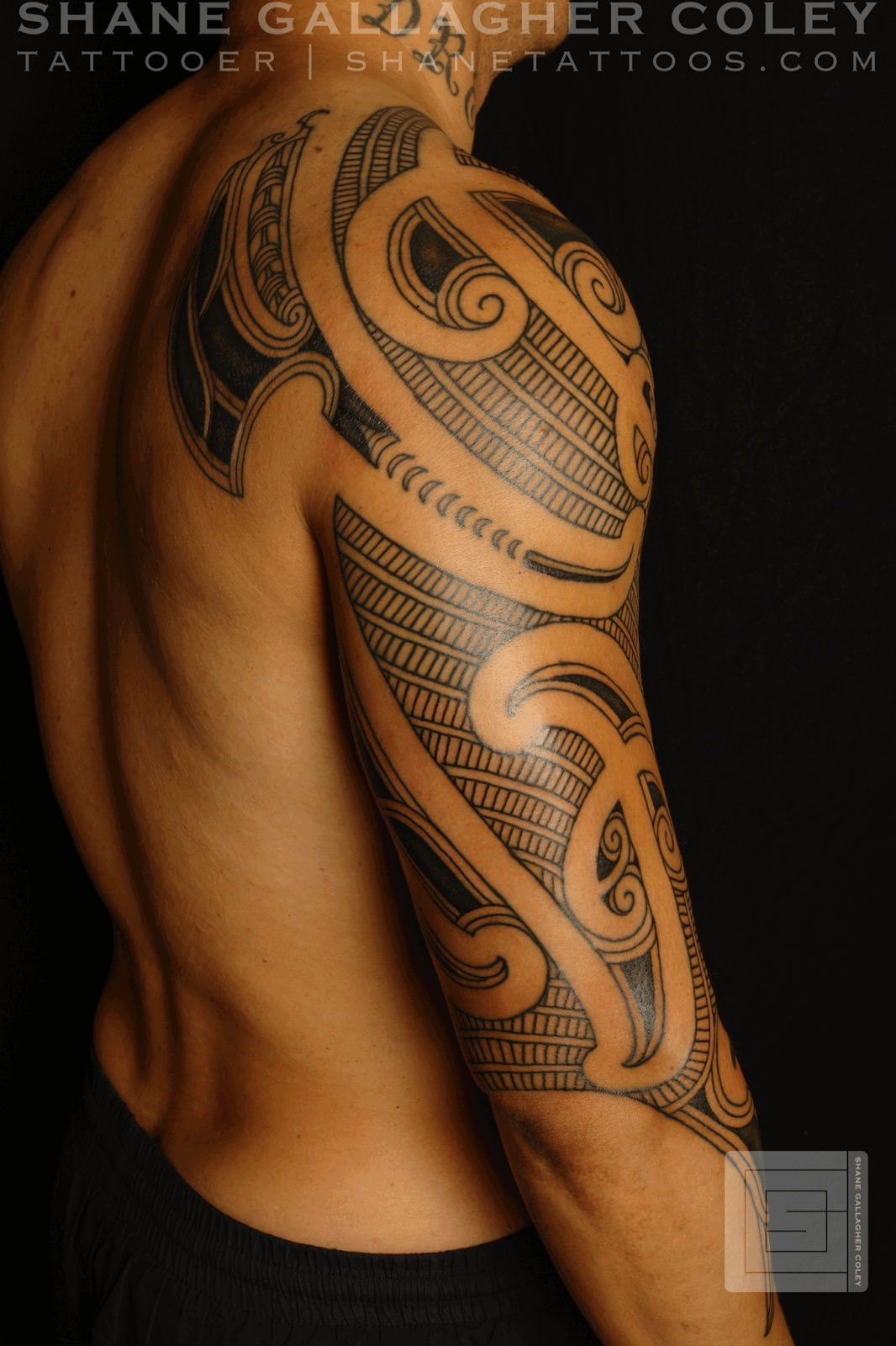 maori polynesian tattoo maori sleeve ta moko. Black Bedroom Furniture Sets. Home Design Ideas