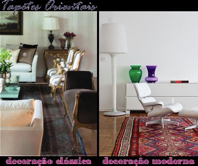 tapetes persas na decoração