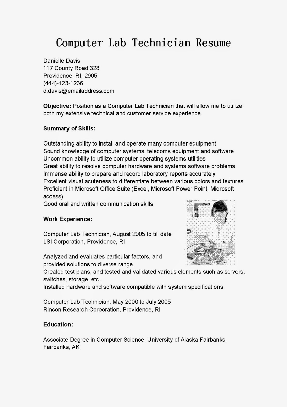 Click Here To Download This Clinical Research Associate Resume Mr Resume  Lab Technician Resume