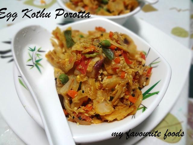 Egg Kothu Porotta