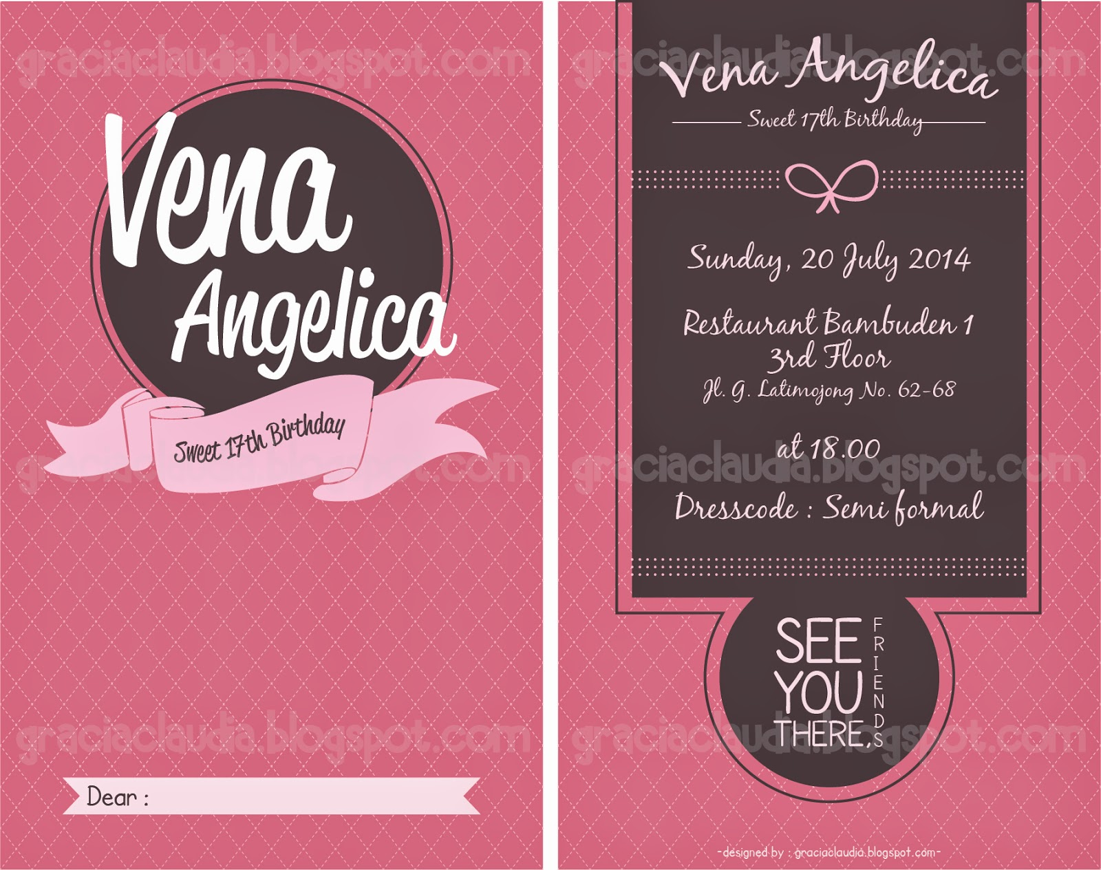 Gc design make up venas sweet 17th birthday invitation soft file stopboris Image collections