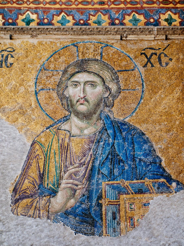 Detalle mosaicos de Santa Sofía