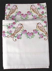 Set of pillowcases with timeless embroidery decoration