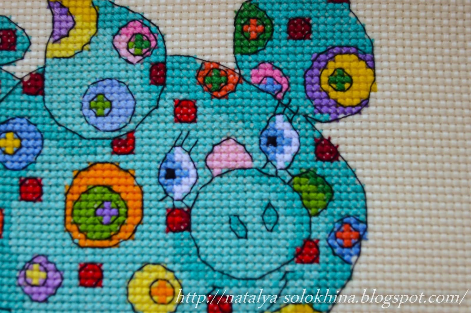 схема вышивки крестиком от carolyn manning designs