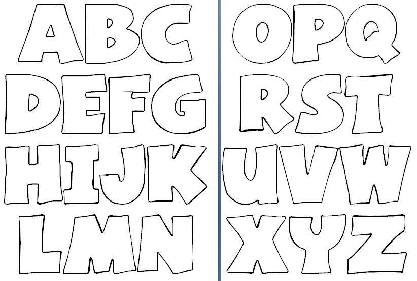 Moldes de letras abecedario completo para imprimir - Imagui