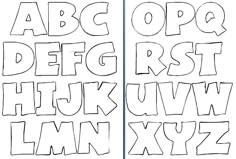 Moldes de letras del abecedario grandes para imprimir - Imagui