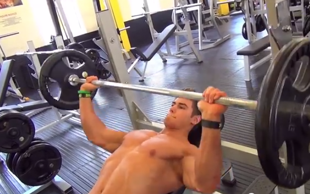 young bodybuilder weight training