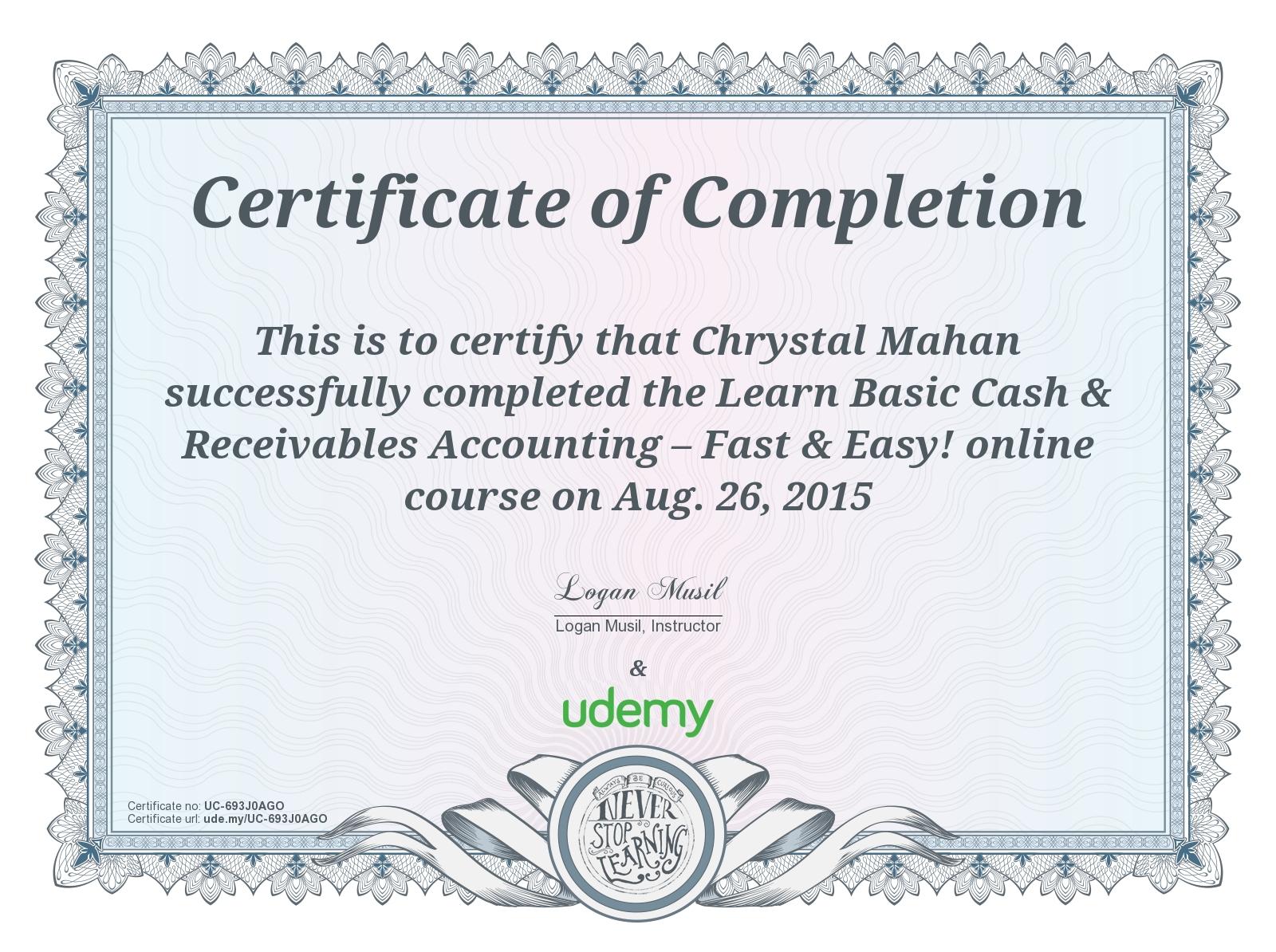 Credentials Chrystal Mahan