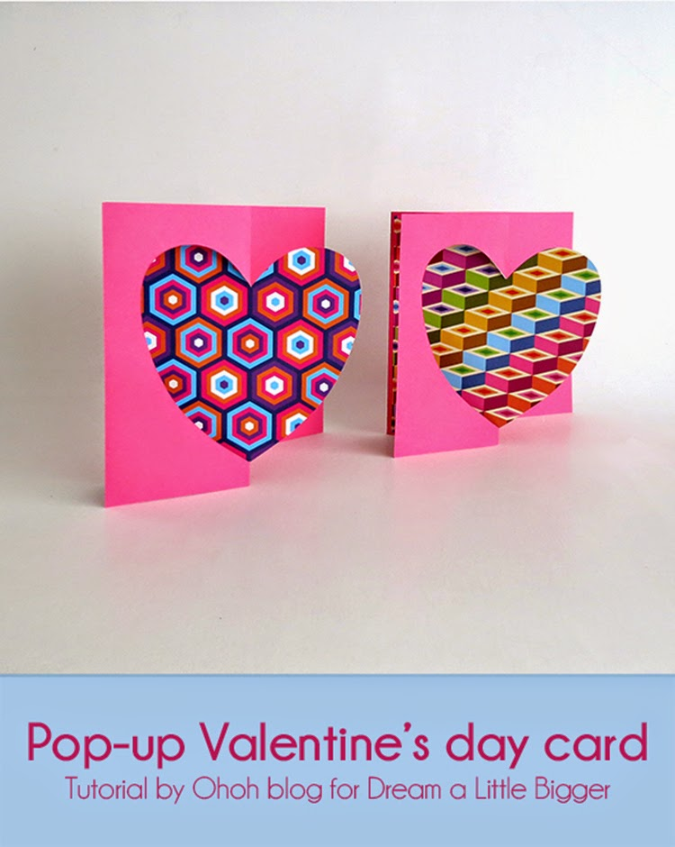 There Is Only A Few Day Left Until Valentines Day But You Still Have Enough Time To Make A Cute Pop Up Heart Card Its An Easy And Fast Craft