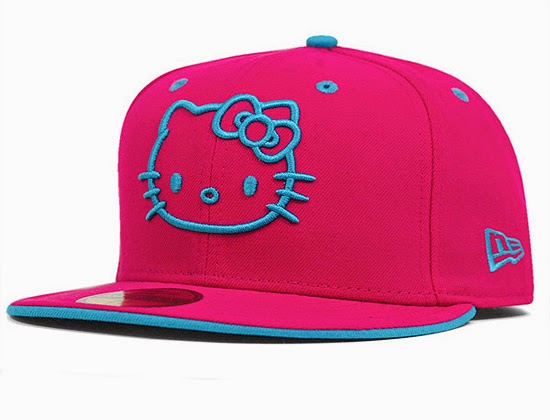 Gambar Topi Hello Kitty Lucu Pink Biru Imut Hat Hello Kitty