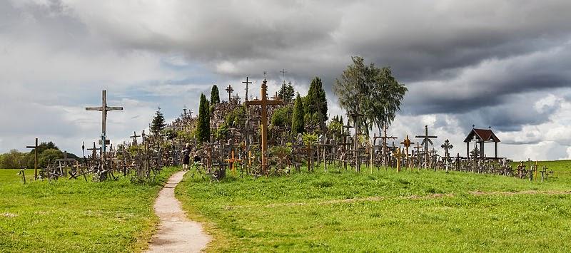 Výsledek obrázku pro Lithuania's Hill of Crosses