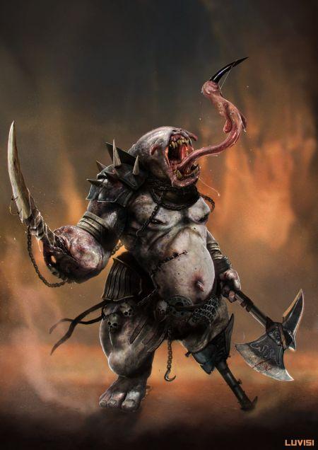Dan Luvisi deviantart ilustrações digitais fantasia filmes quadrinhos cultura pop Criatura WTF