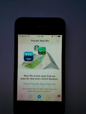 iPhone 4, iOS 7 App Store