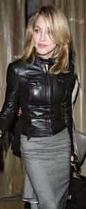 Madonna con cazadora de cuero