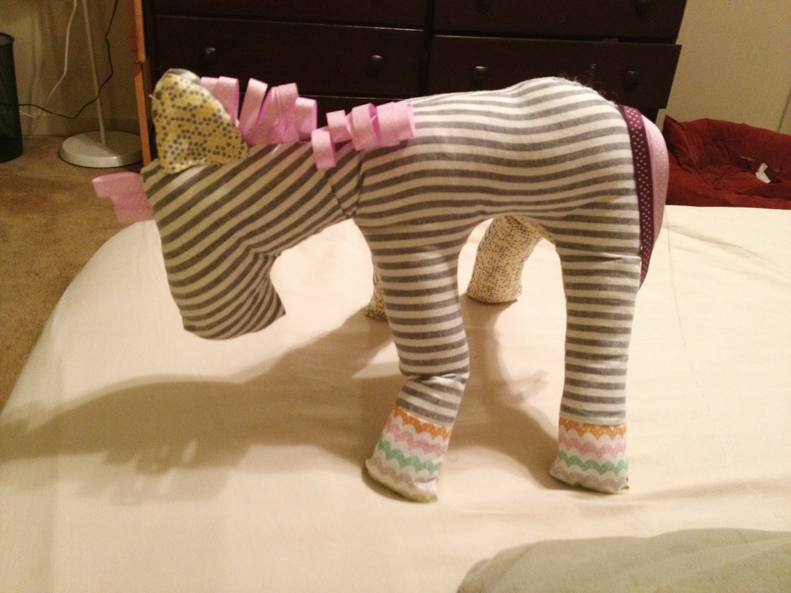 stuffed animal horse taggy handmade