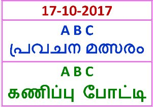 17-10-2017 A B C Guessing Competition