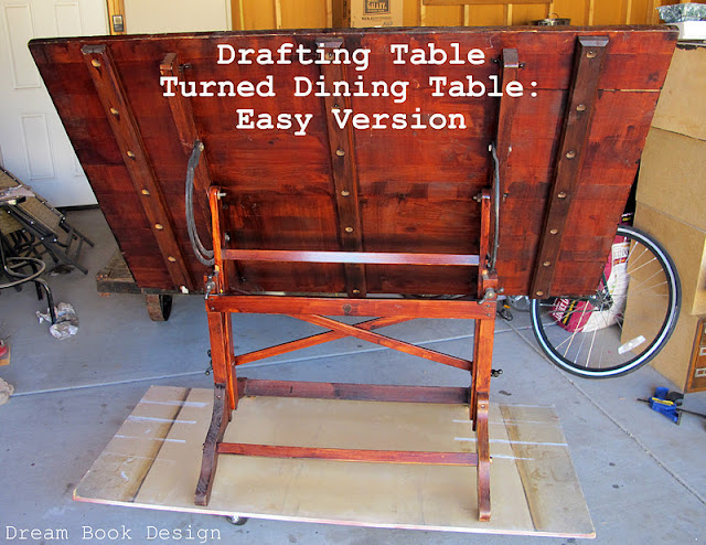 Drafting Table Turned Dining Table Easy Version Dream
