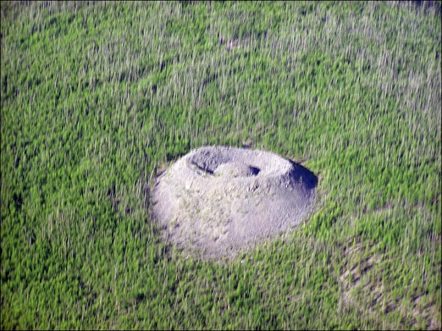 A volcano or a meteor impact: What created this large mysterious Siberian crater?