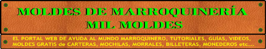 MOLDES DE MARROQUINERA - MIL MOLDES