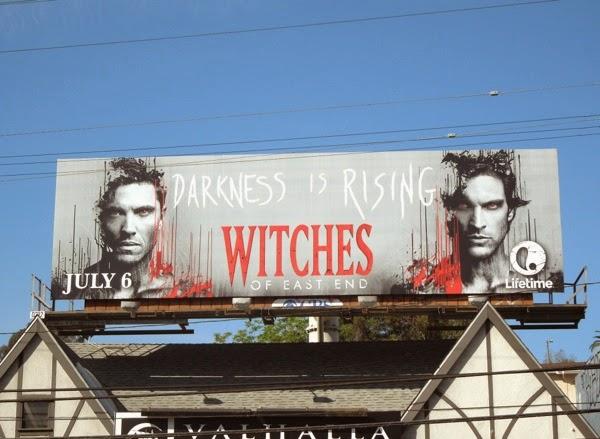 Dash Killian Witches of East End season 2 billboard