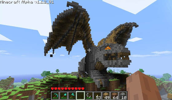 Minecraft Dragon Head