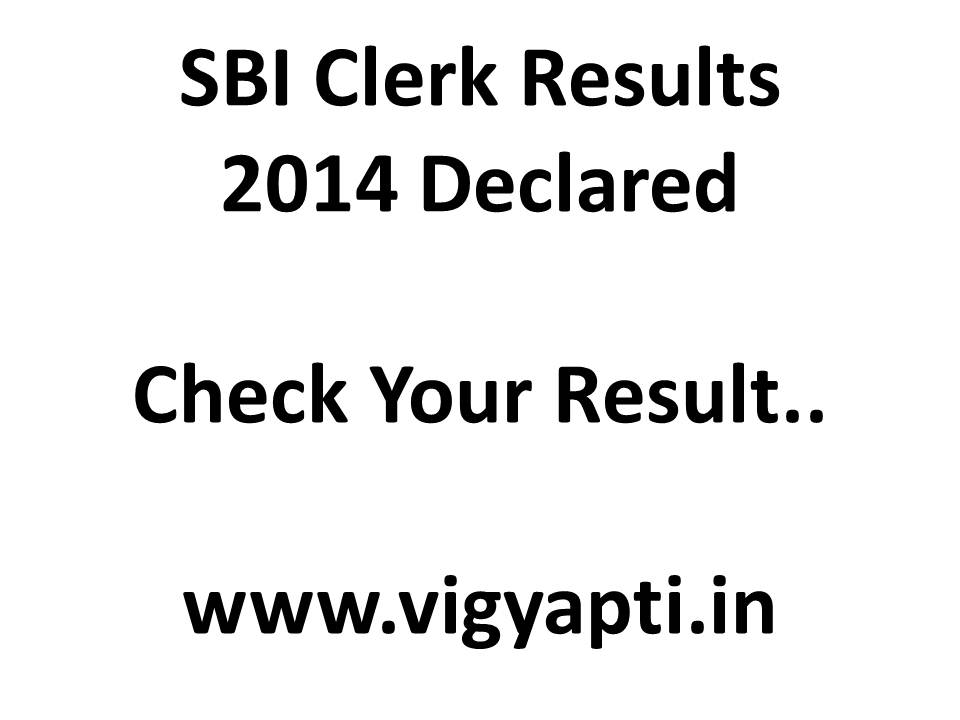 SBI Clerk Results 2014 sbi.co.in Clerical Exam Result Declared