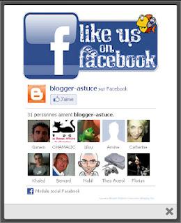 pop up facebook blogger