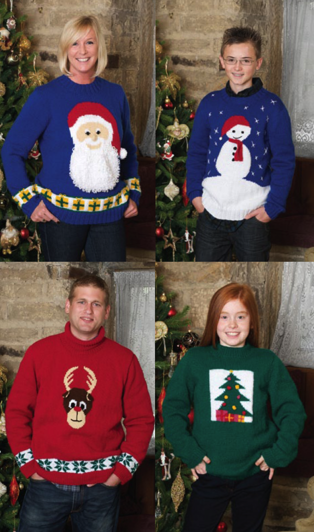 Knitting Patterns For Children s Christmas Jumpers : The Vintage Pattern Files: Knitting - Christmas Jumpers