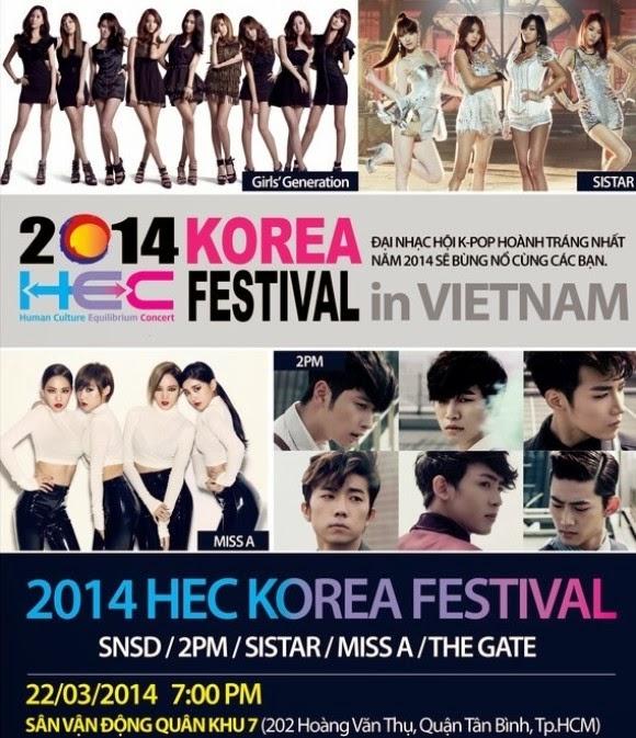 SNSD, 2PM, Miss A, Sistar gửi lời chào đến fan Việt Nam