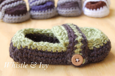 Monk Strap Baby Boy Loafer Crochet Pattern