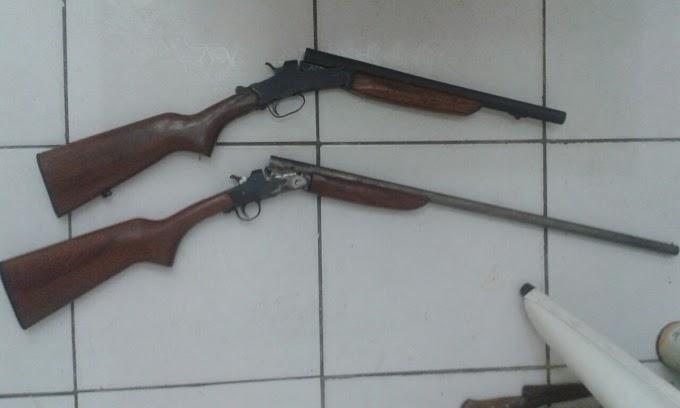 Caxias: Duas espingardas oriundas de golpes perpetrados por homem que agia na região são apreendidas