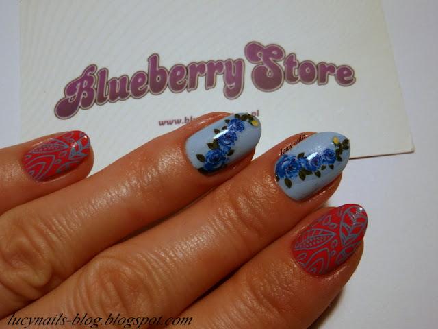 Naklejki wodne HOT 053 Blueberry