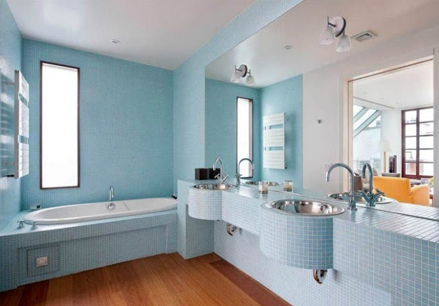 Modern and Beautiful Bathrooms Design Ideas with Blue Shades