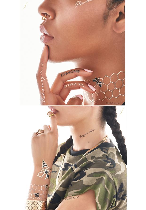 Beyonce Tatuajes temporales