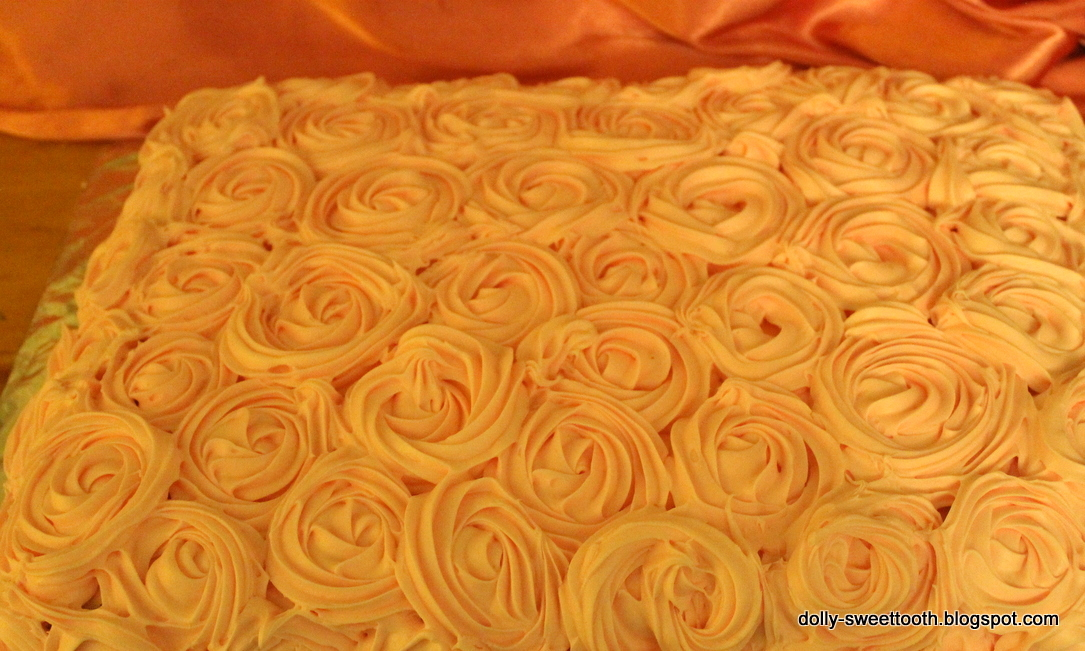 Cake covered with Roses Roses Cake