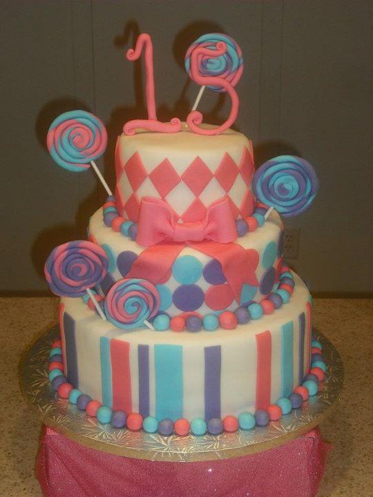 Sprinklebelle Lollipop Birthday Cake
