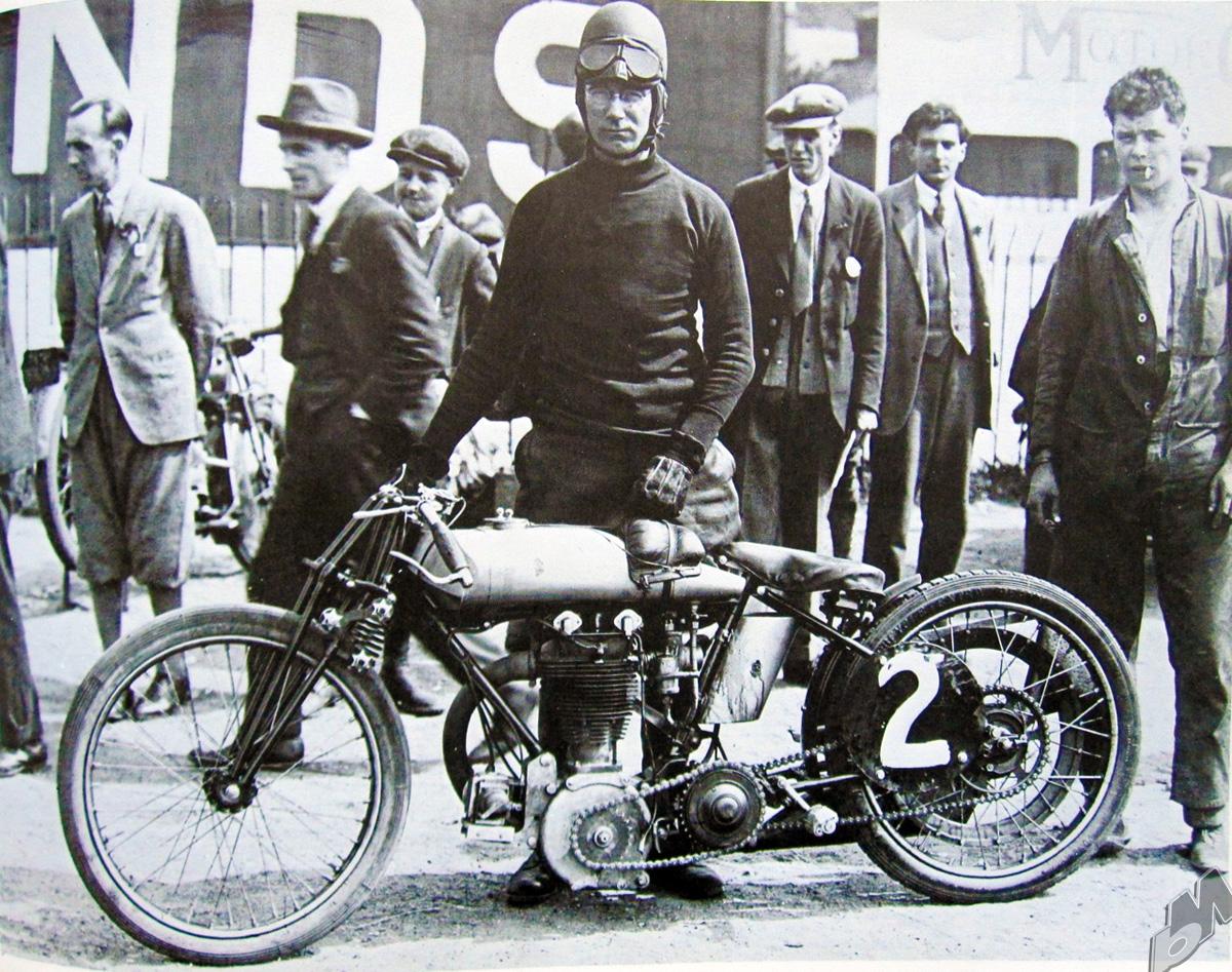 600cc triumph tt racer at the