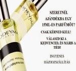 Ingyenes 15 ml-es parfüm illatminta