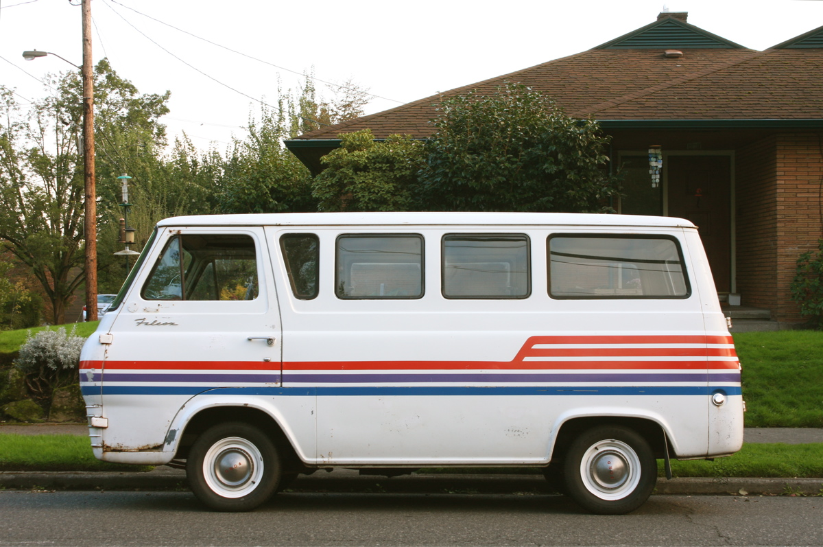 old parked cars 1963 ford falcon van