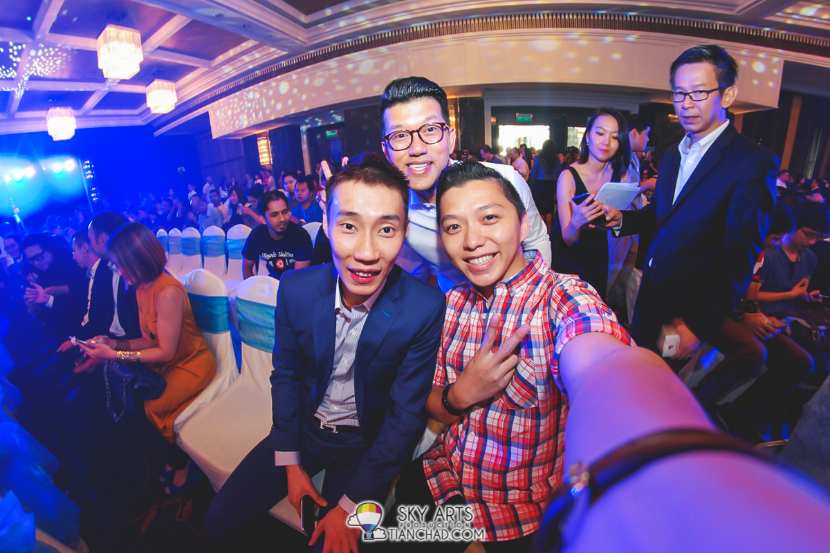 A #TCSelfie with Dato Lee Chong Wei before the event start