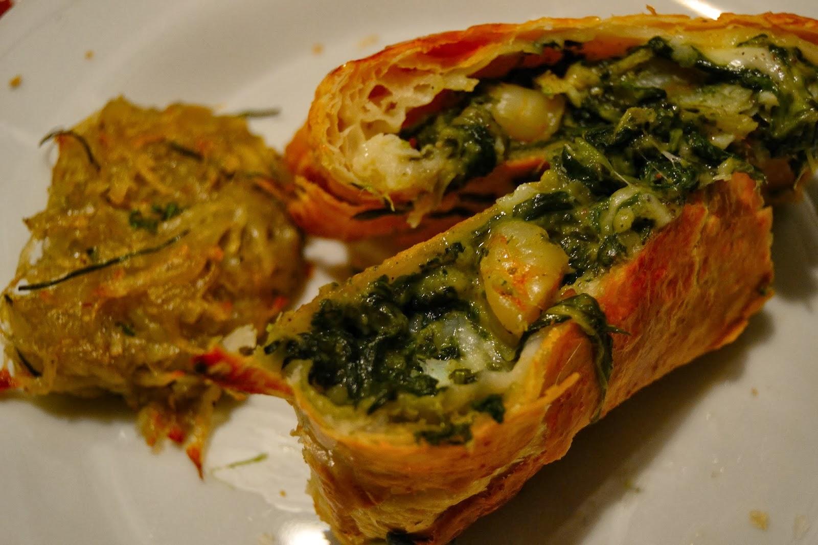 Hojaldre de espinacas lenguado y gambas cocinar para nutrir for Cocinar espinacas