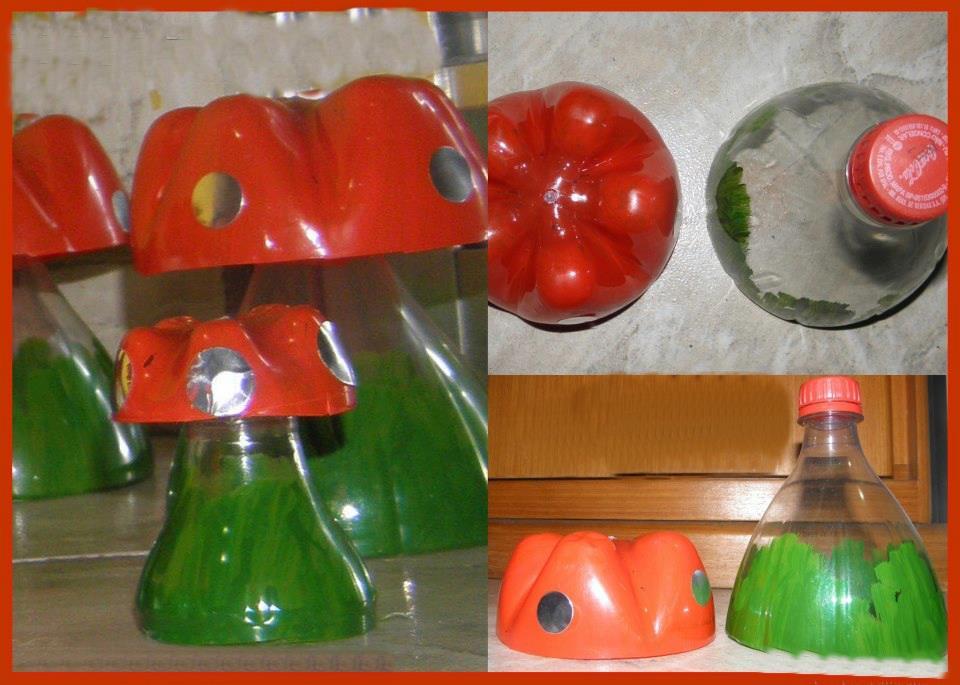 Reciclagem e Sucata: Cogumelo com Garrafa Pet