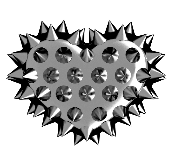 Spiked Heart Symbols Emoticons