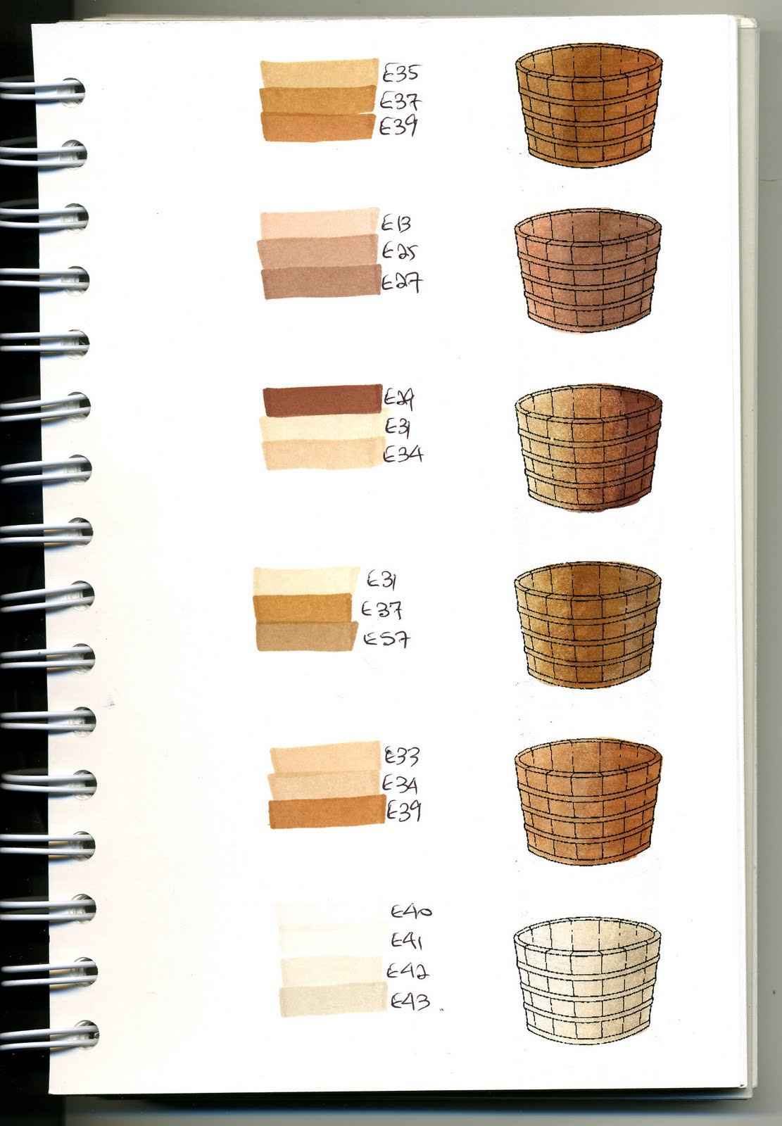Cat S Creations Copic Swatch Book