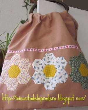 Mi peque a casa de la pradera bolso con asas de madera - Bolsos de tela hechos en casa ...